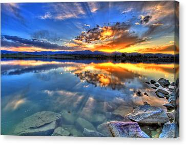Sunset Explosion Canvas Print by Scott Mahon