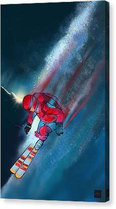 Canvas Print - Sunset Extreme Ski by Sassan Filsoof