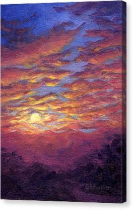 Sunset Fantasy Canvas Print by Elaine Farmer