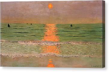 Sunset Canvas Print by Felix Edouard Vallotton