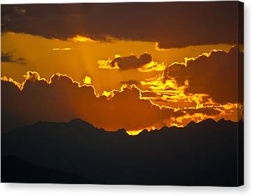 Sunset Fire Canvas Print by Colleen Coccia