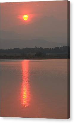 Sunset Fire Canvas Print by James BO  Insogna