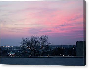 Sunset From Liberty Memorial Canvas Print