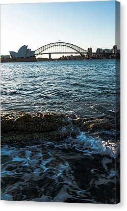 Canvas Print - Sunset From Mrs Macquarie's Point by Steven Richman