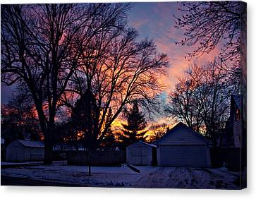 Sunset From My View Canvas Print by Kathy M Krause