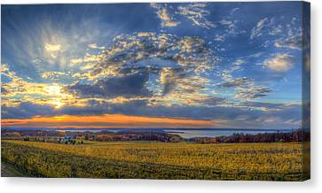 Winery Canvas Print - Sunset From Old Mission by Twenty Two North Photography