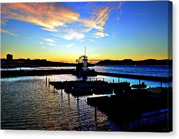Canvas Print featuring the photograph Sunset From Pier 39 - San Fransisco by Glenn McCarthy Art and Photography