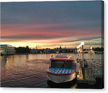 Sunset From The Boardwalk Canvas Print by John Black