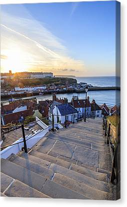Sunset From The Steps At Whitby. Canvas Print