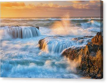 Canvas Print featuring the photograph Sunset Fury by Darren White