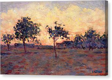 Sunset Canvas Print by Georges Pierre Seurat