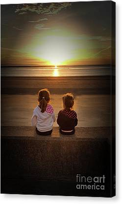 Sunset Sisters Canvas Print by Lynn Bolt