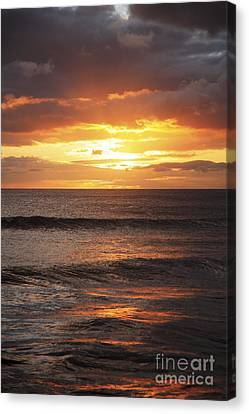 Sunset Glimmering On Ocean Canvas Print by Brandon Tabiolo - Printscapes