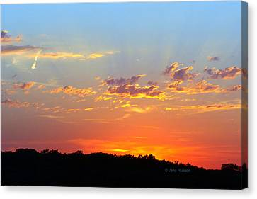 Sunset Glory Orange Blue Canvas Print