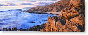 Sunset Glow Along Pacific Coast Canvas Print by Panoramic Images