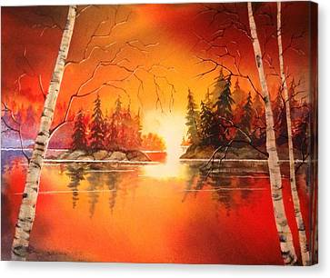 Canvas Print - Sunset Glow by Marilyn Jacobson