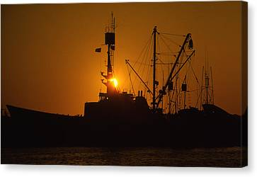 Canvas Print featuring the photograph Sunset Harbor by Marie Leslie