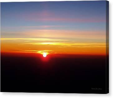 Sunset II Canvas Print by Deborah  Crew-Johnson