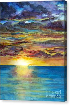 Canvas Print featuring the painting Sunset II by Suzette Kallen