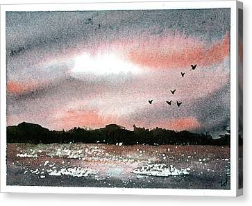 Sunset II Canvas Print by Tonya Doughty
