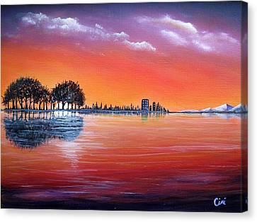Sunset Illusion Canvas Print
