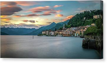 Bellagio Canvas Print - Sunset In Bellagio On Lake Como by James Udall