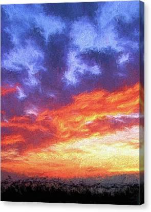 Sunset In Carolina Canvas Print