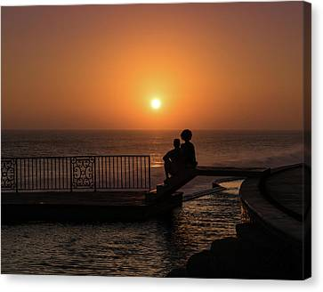 Sunset In Cerritos Canvas Print