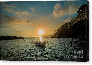 Sunset In Cinque Terre Canvas Print
