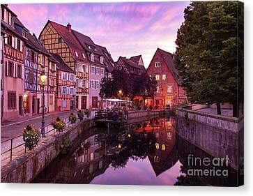 Sunset In Colmar Canvas Print by Brian Jannsen