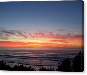 Sunset In December Canvas Print by Angi Parks