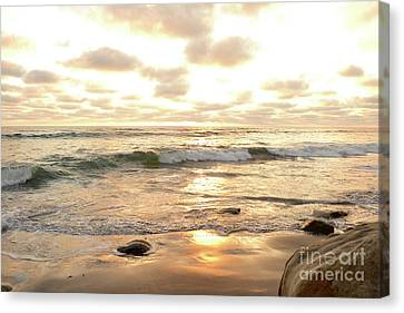 Sunset In Golden Tones Torrey Pines Natural Preserves #2 Canvas Print