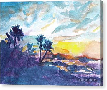 Sunset In Hawaii Canvas Print