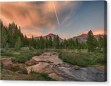 Dana Canvas Print - Sunset In High Sierra by Bill Roberts