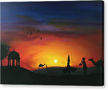 Sunset In Jaisalmer 2  Canvas Print