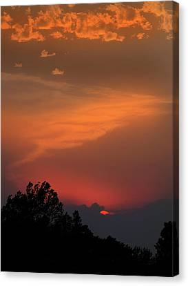 Sunset In Kansas Canvas Print