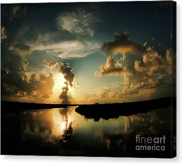 Sunset In Lacombe, La Canvas Print