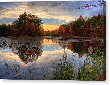 Kevin Hill Canvas Print - Lake Sunset In New Jersey by Kevin Hill