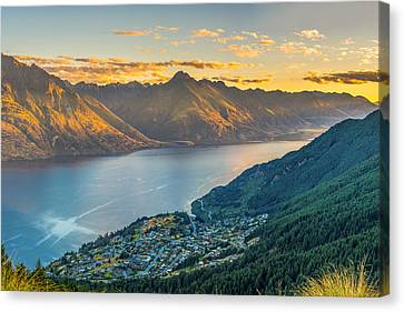 Sunset In New Zealand Canvas Print by James Udall