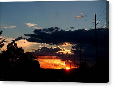 Canvas Print featuring the photograph Sunset In Oil Santa Fe New Mexico by Diana Mary Sharpton