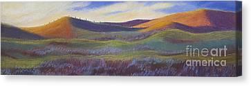 Sunset In Orange Canvas Print by Lucinda  Hansen