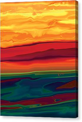 Canvas Print featuring the digital art Sunset In Ottawa Valley 1 by Rabi Khan