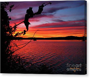 Canvas Print featuring the photograph Sunset In Pennsylvania by Donna Brown