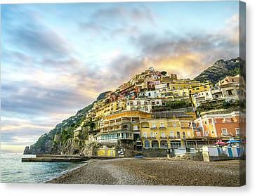 Sunset In Positano Canvas Print