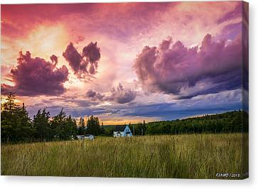 Sunset In Rear Intervale Canvas Print
