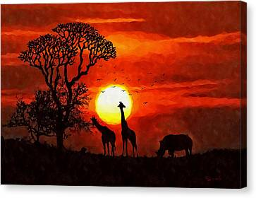 Sunset In Savannah Canvas Print
