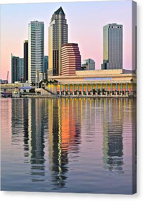 Sunset In Tampa Canvas Print by Frozen in Time Fine Art Photography