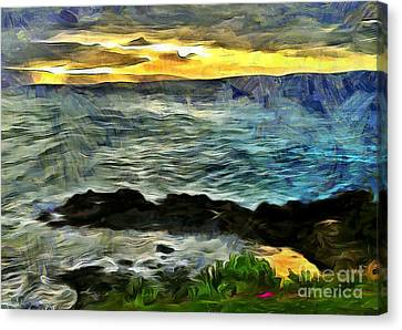 Abstract Nature Canvas Print - Sunset In The Cove by Krissy Katsimbras