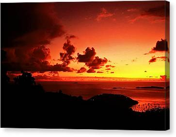 Sunset In The Islands Canvas Print by Bill Jonscher