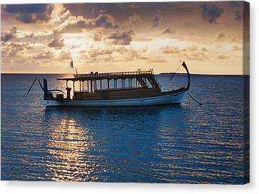 Sunset In The Maldives Canvas Print